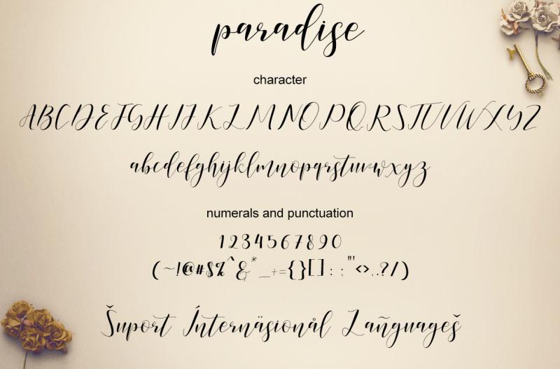 paradise-calligraphy-modern