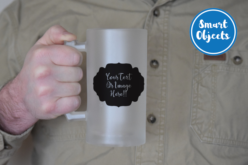 Free Frosted Beer Stein Mock Up (PSD Mockups)