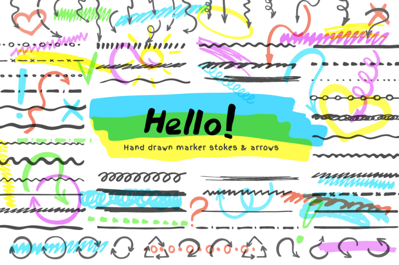 highlighter-brushes-and-arrows-vector