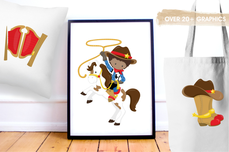 west-cowboys-graphics-and-illustrations