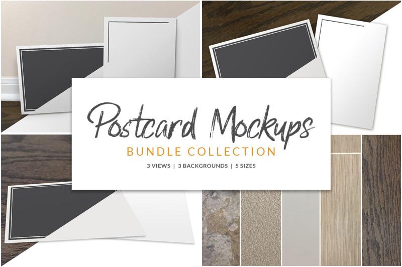Free Postcard Mockup Bundle (PSD Mockups)