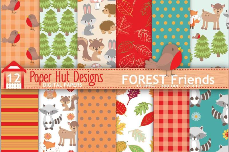 forest-friends-seamless-digital-papers
