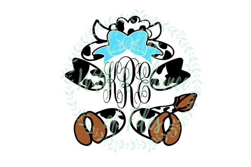 easter-svg-easter-monogram-svg-easter-cow-svg-cow-monogram-svg-baby-cow-svg