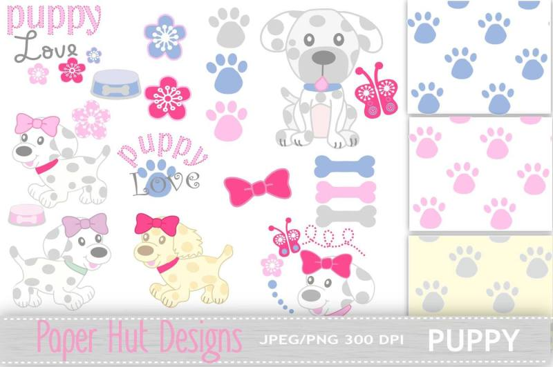puppy-dog-clipart-and-digital-papers