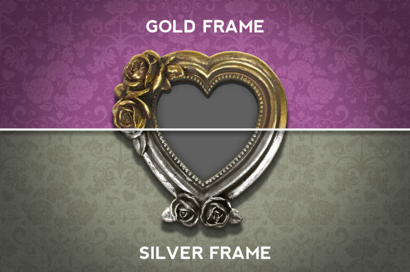 gold-and-silver-heart-frame-mockup