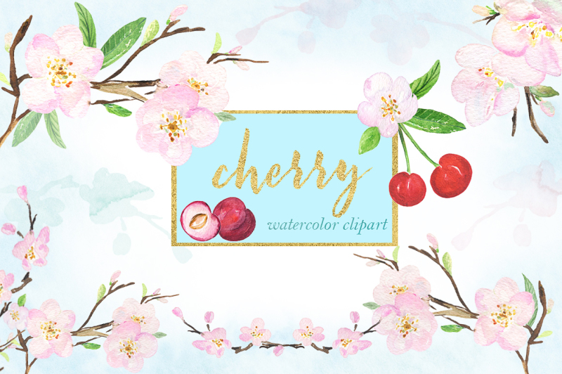 cherry-watercolor-clipart
