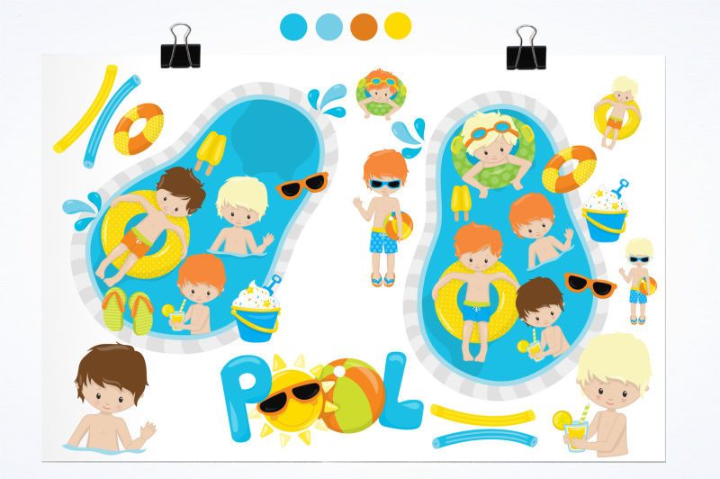pool-party-graphics-and-illustrations