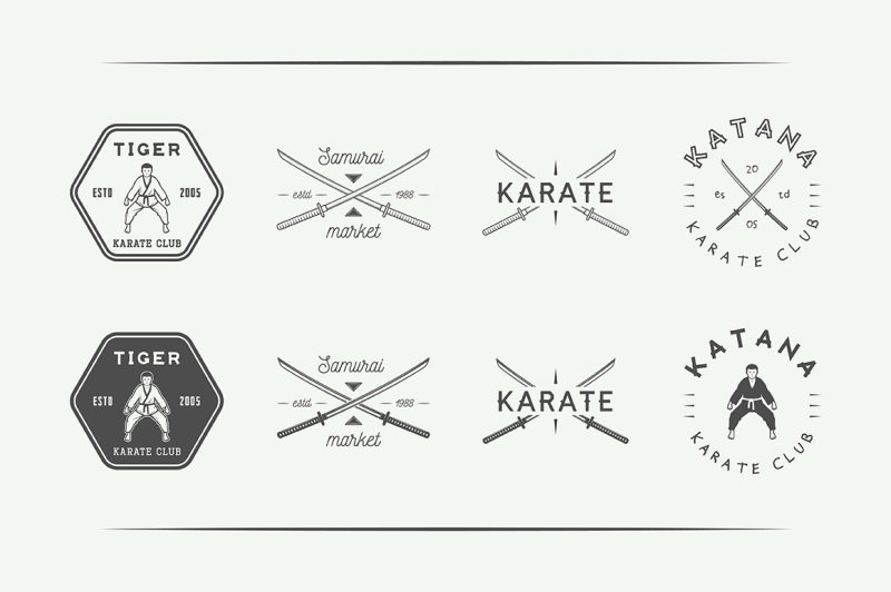vintage-karate-emblems-bundle