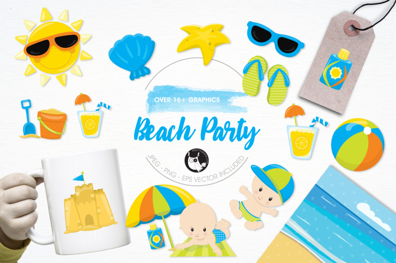 beach-party-graphics-and-illustrations