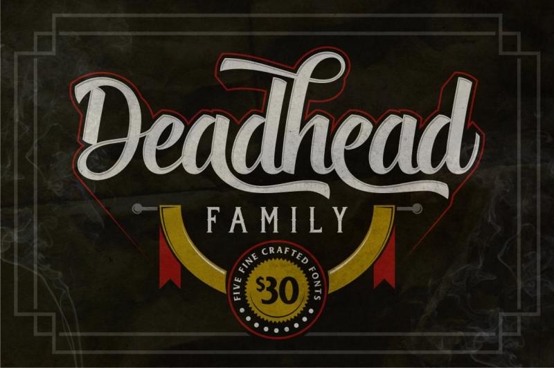 deadhead-typeface-family