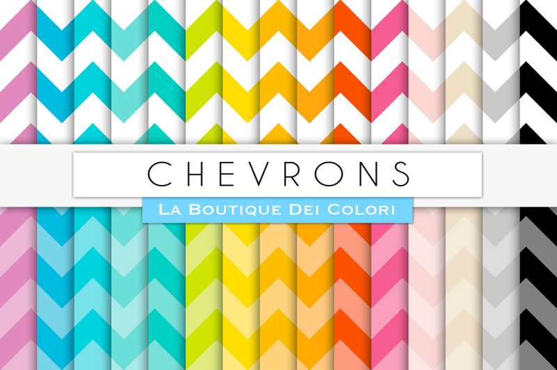 rainbow-chevron-digital-papers