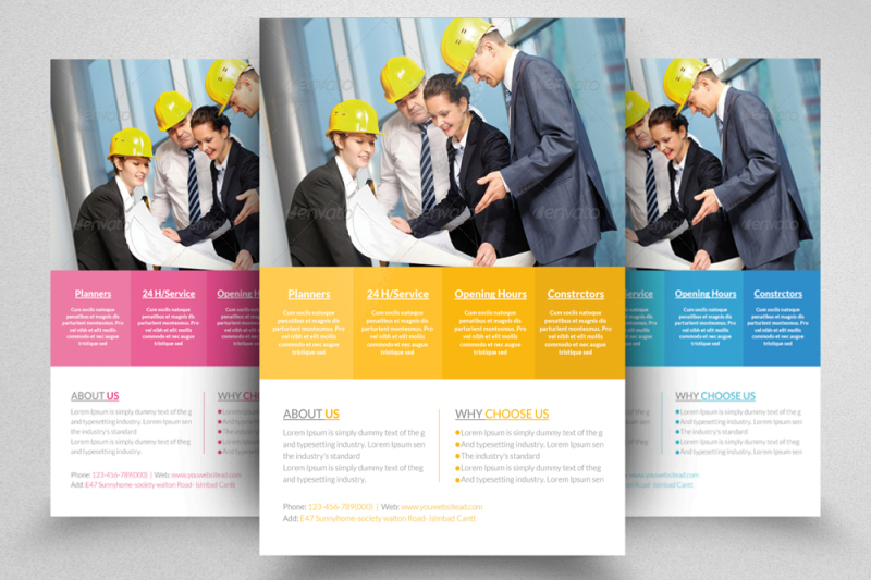 civil-engineer-and-architect-business-flyer