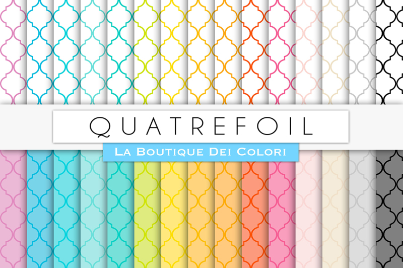 rainbow-quatrefoil-digital-papers