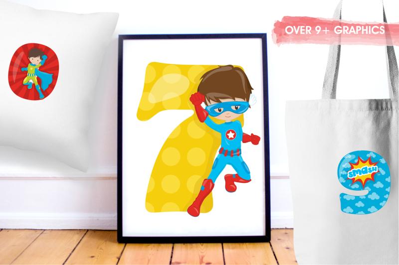 superhero-numbers-graphics-and-illustrations