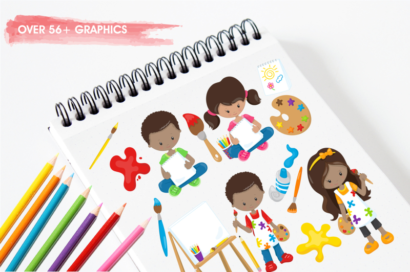 little-artists-graphics-and-illustrations