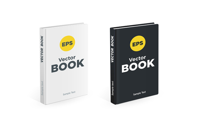 Free set of the vector books (PSD Mockups)