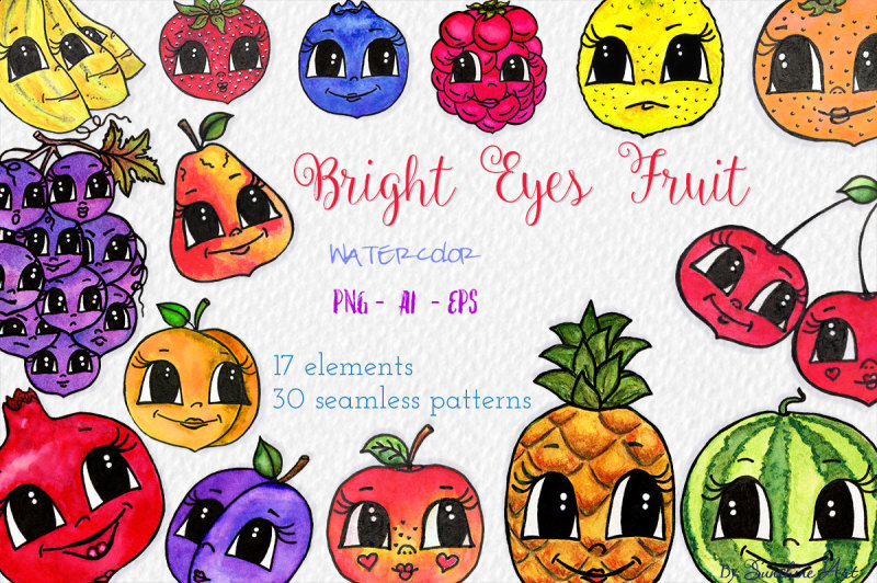 bright-eyes-fruit-watercolor-clip-art-kit