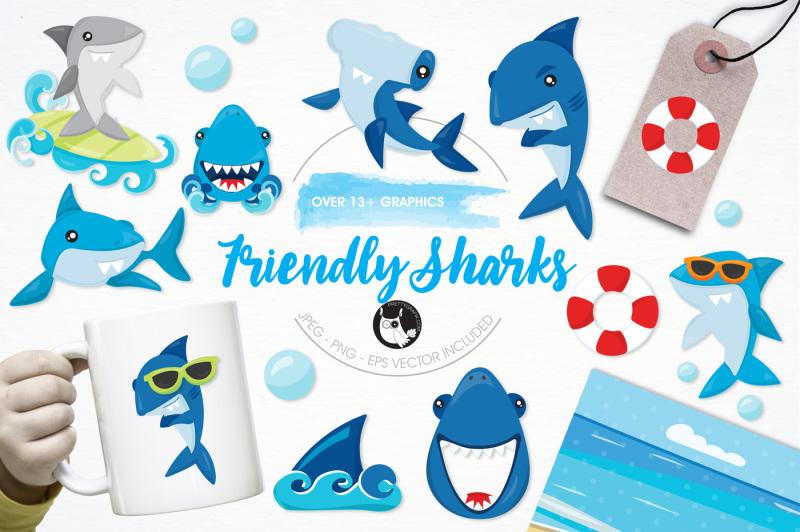 friendly-sharks-graphics-and-illustrations