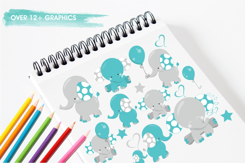 boy-elephants-graphics-and-illustrations