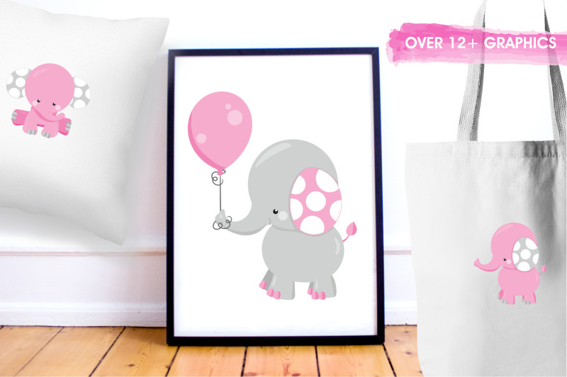 girl-elephants-graphics-and-illustrations