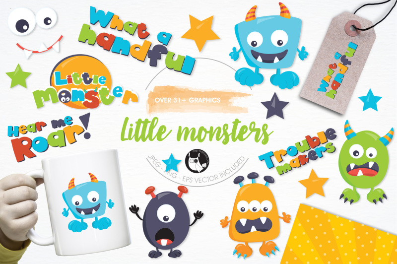 little-monsters-graphics-and-illustrations