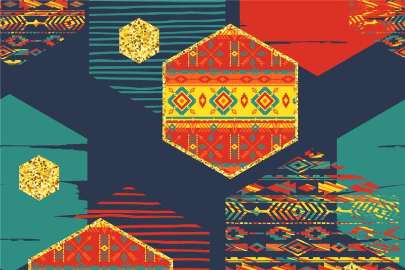 set-of-tribal-seamless-patterns