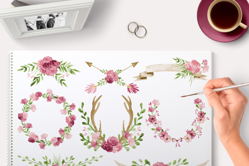 pink-floral-watercolor-graphics
