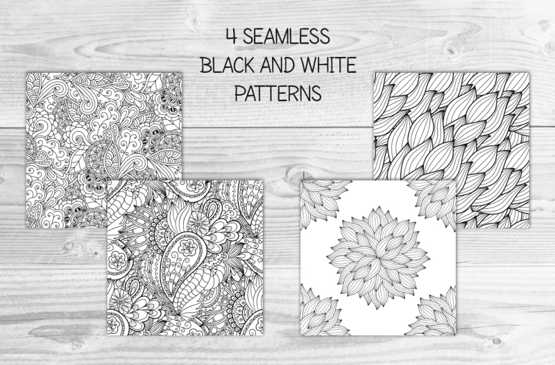 12-vector-seamless-doodle-patterns