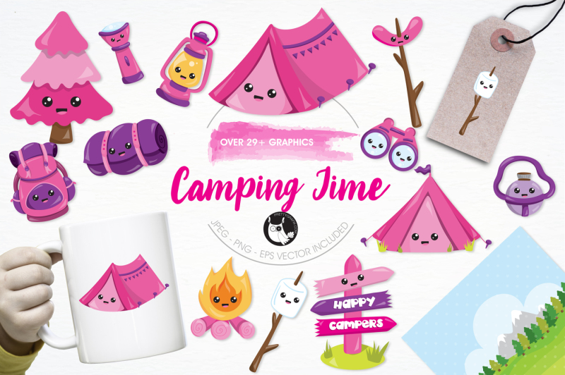 camping-time-graphics-and-illustrations
