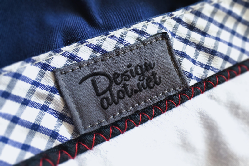 Free Embroidered Canvas Label (PSD Mockups)