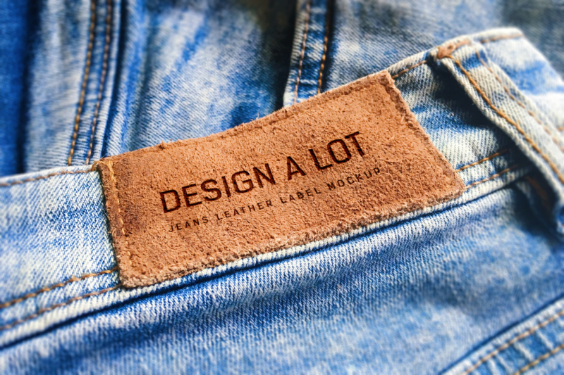 Free Engraved Brown Leather Label (PSD Mockups)