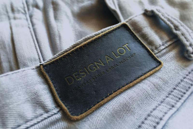 Free Engraved Dark Brown Leather Label (PSD Mockups)