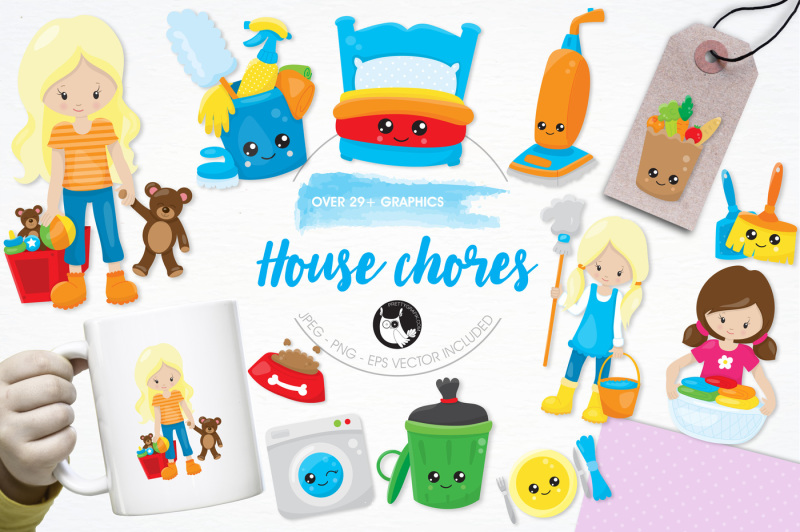 house-chores-graphics-and-illustrations