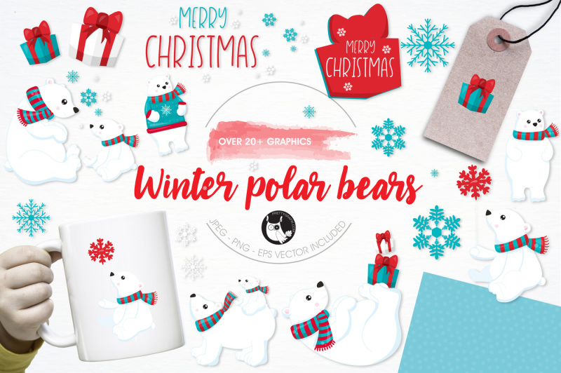 winter-polar-bears-graphics-and-illustrations