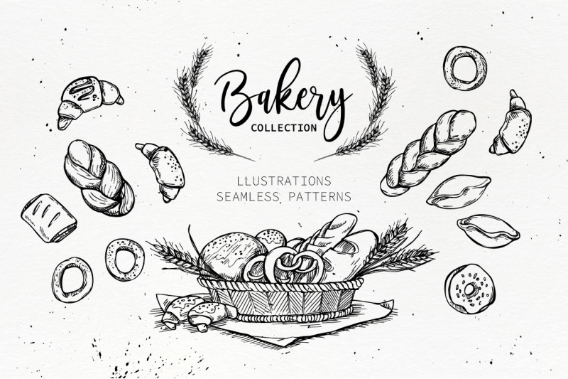 handsketched-bakery-set