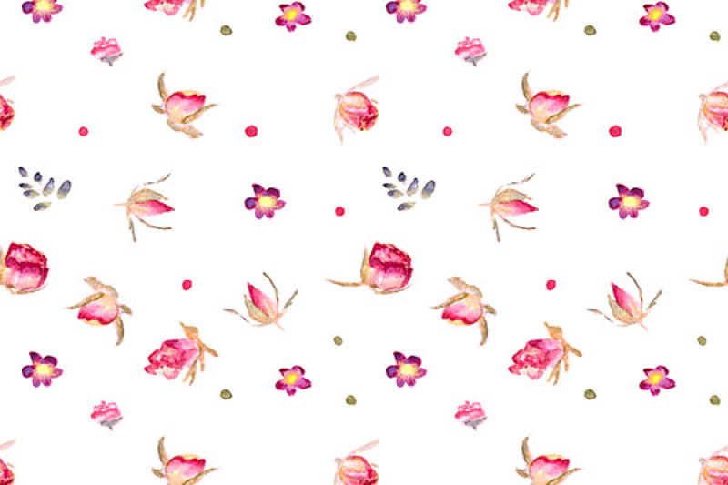 4-hand-drawn-watercolor-flower-patterns