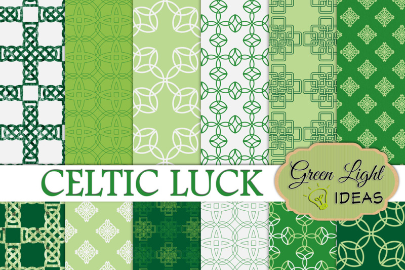 st-patrick-s-day-digital-papers-celtic-backgrounds-green-scrapbook-papers