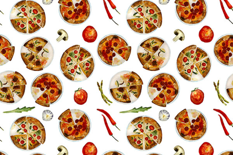 2-food-patterns-pizza-and-sushi