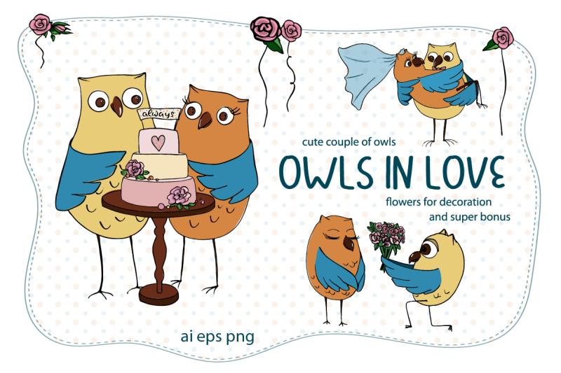 owls-in-love