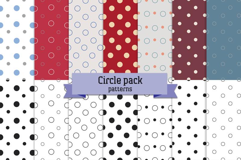 circle-pack-14-seamless-patterns