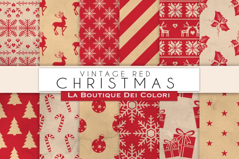 vintage-red-christmas-digital-paper