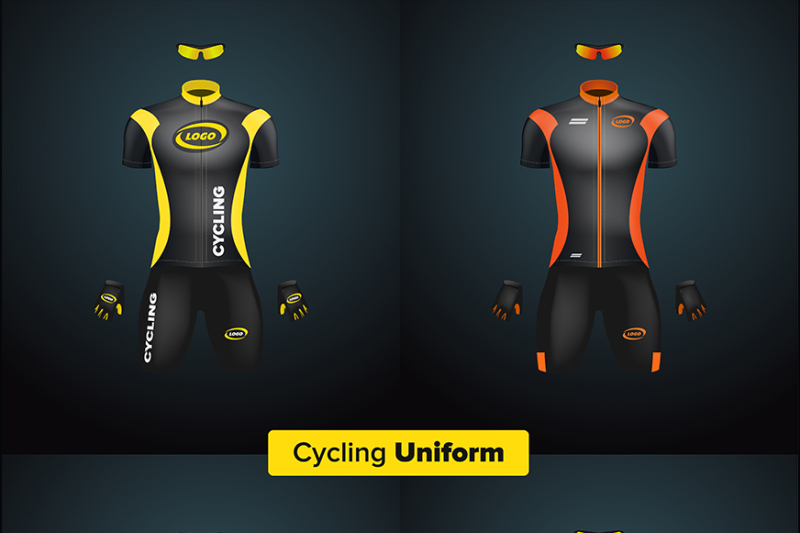 Free Realistic vector cycling uniform set (PSD Mockups)