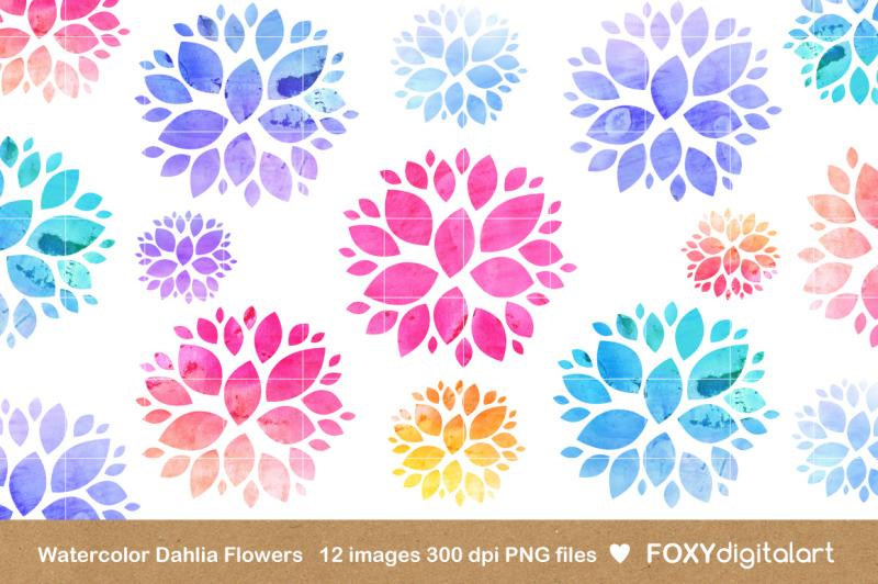 watercolor-flowers-clipart-dahlia