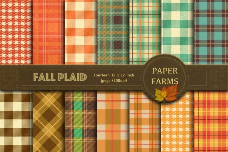 fall-plaid-digital-paper