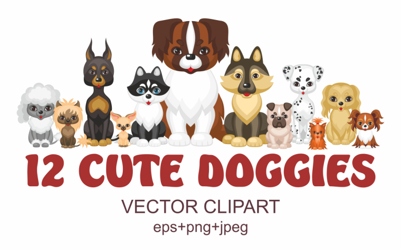 12-cute-doggies-vector-clipart
