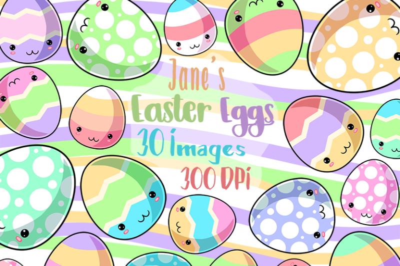 kawaii-easter-eggs-clipart