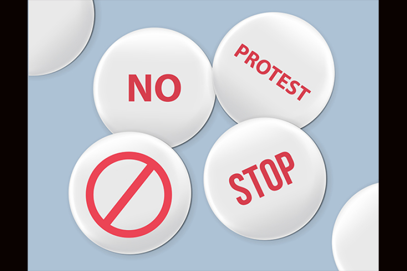 blank-white-badges-protest-signs-vector-realistic-illustration-realistic-mockup