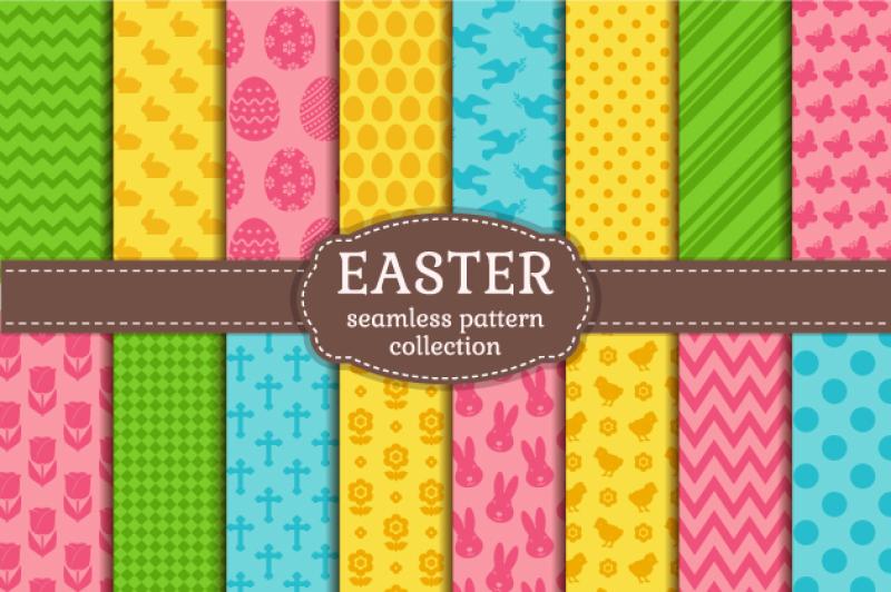 easter-seamless-patterns-set