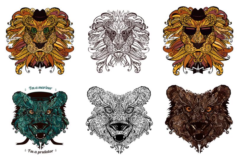 ornamental-doodle-animals