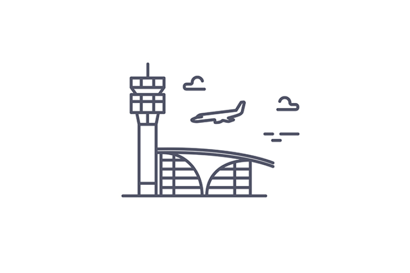 airport-building-and-airplane-vector-line-icon